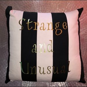 Beetlejuice Strange and Unusual Throw Pillow